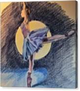 Moonlight Ballerina Canvas Print