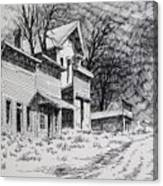 Moonlight Bannack Ghost Town Montana Canvas Print