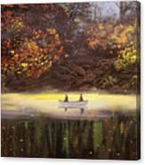 Moonlight Canoeing Canvas Print