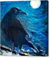 Moonlight Crow Canvas Print