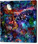 Moonlight Gardens Winter Canvas Print