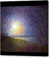 Moonlight Lake Canvas Print