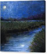 Moonlight Marsh Canvas Print
