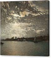 Moonlight Mood, The Stockholm Inlet  Canvas Print