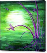 Moonlight On Green Water Canvas Print