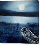 Moonlight On The River Canvas Print