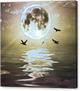 Moonlight On Water Canvas Print