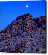Moonlight Over Peggy's Mountain Canvas Print