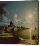 Moonlight Scene Canvas Print