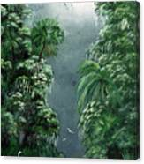 Moonlight  Swamp Canvas Print