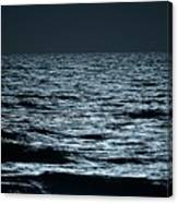Moonlight Waves Canvas Print