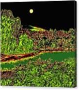 Moonlit Kaloya Park Canvas Print