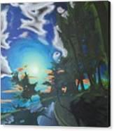 Moonlit Moto Canvas Print