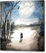 Moonlit Night Sweet Memory Canvas Print