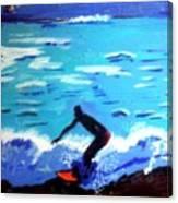 Moonlit Surf Canvas Print