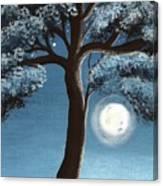 Moonlit Tree Canvas Print