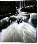 Moonlit Waterfall Canvas Print