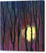 Moonrise In December Canvas Print