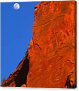 Moonrise In Grand Staircase Escalante Canvas Print