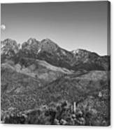 Moonrise Over Four Peaks Canvas Print
