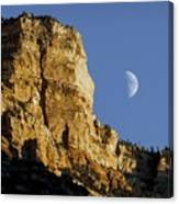 Moonrise Over Grand Canyon Canvas Print