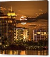 Moonrise Over Sarasota Canvas Print