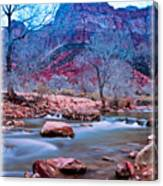 Moonrise Over Zion Canvas Print