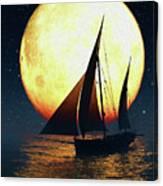 Moonsailor Canvas Print