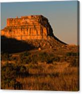 Moonset At Fajada Butte Canvas Print