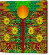 Moonshine Over The Golden Sacred Pond  Canvas Print