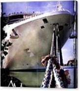 Moored Cruiseship Canvas Print
