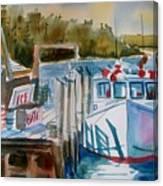 Moored Fishing Boat Canvas Print