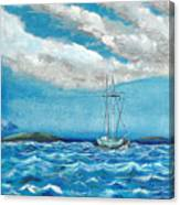 Moored In The Bay Canvas Print