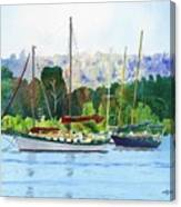 Moored Ketch Canvas Print