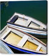 Moored Row Boats Canvas Print