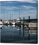 Moored yachts, Skagen, Denmark Canvas Print