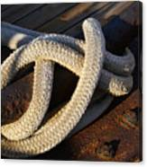 Mooring Rope Made Fast Canvas Print