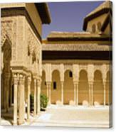 Moorish Architecture In The Nasrid Palaces At The Alhambra Granada Canvas Print