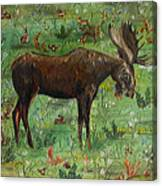 Moose Tapestry Canvas Print