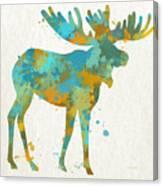 Moose Watercolor Art Canvas Print