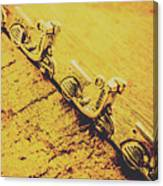 Moped Parking Lot Canvas Print