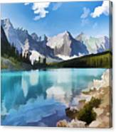 Moraine Lake At Banff National Park Canvas Print