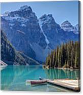 Moraine Lake Canoes Photograph By Pierre Leclerc Photography