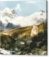 Moran: Teton Range, 1897 Canvas Print