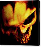 Morbid Decaying Skull Canvas Print