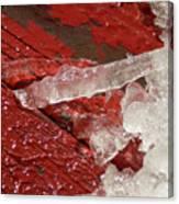 More Fallen Ice Canvas Print