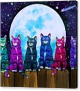 More Moonlight Meowing Canvas Print
