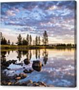 Morgan Lake Sunrise Canvas Print