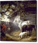 Morland: Farmyard, 1792 Canvas Print