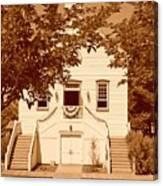 Mormon Pine Valley Meeting House Canvas Print